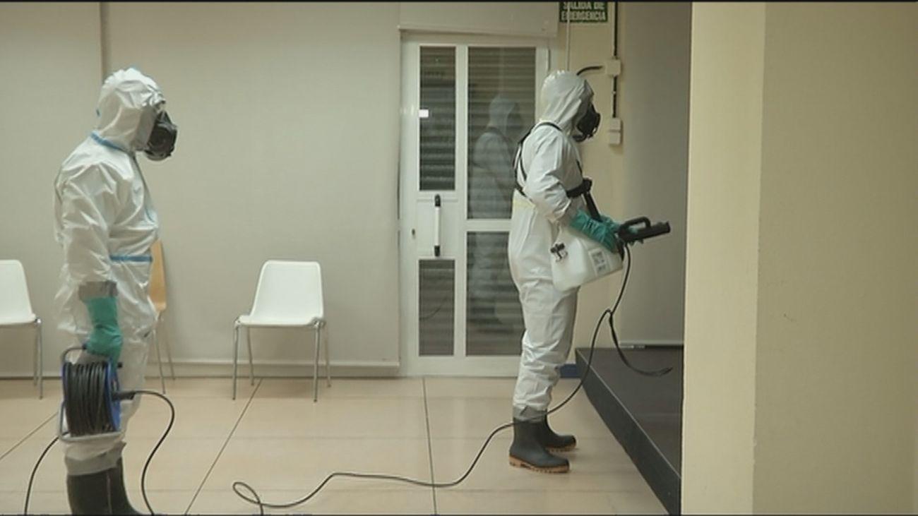 Así desinfecta el ejército  instalaciones contaminadas por la Covid