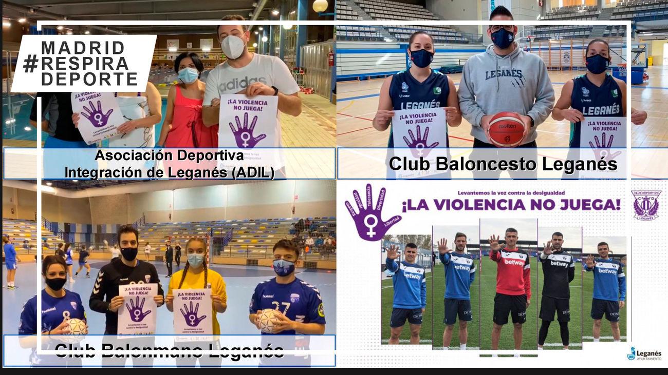 Los clubes deportivos de Leganés ponen en marcha la campaña 'La violencia no juega'