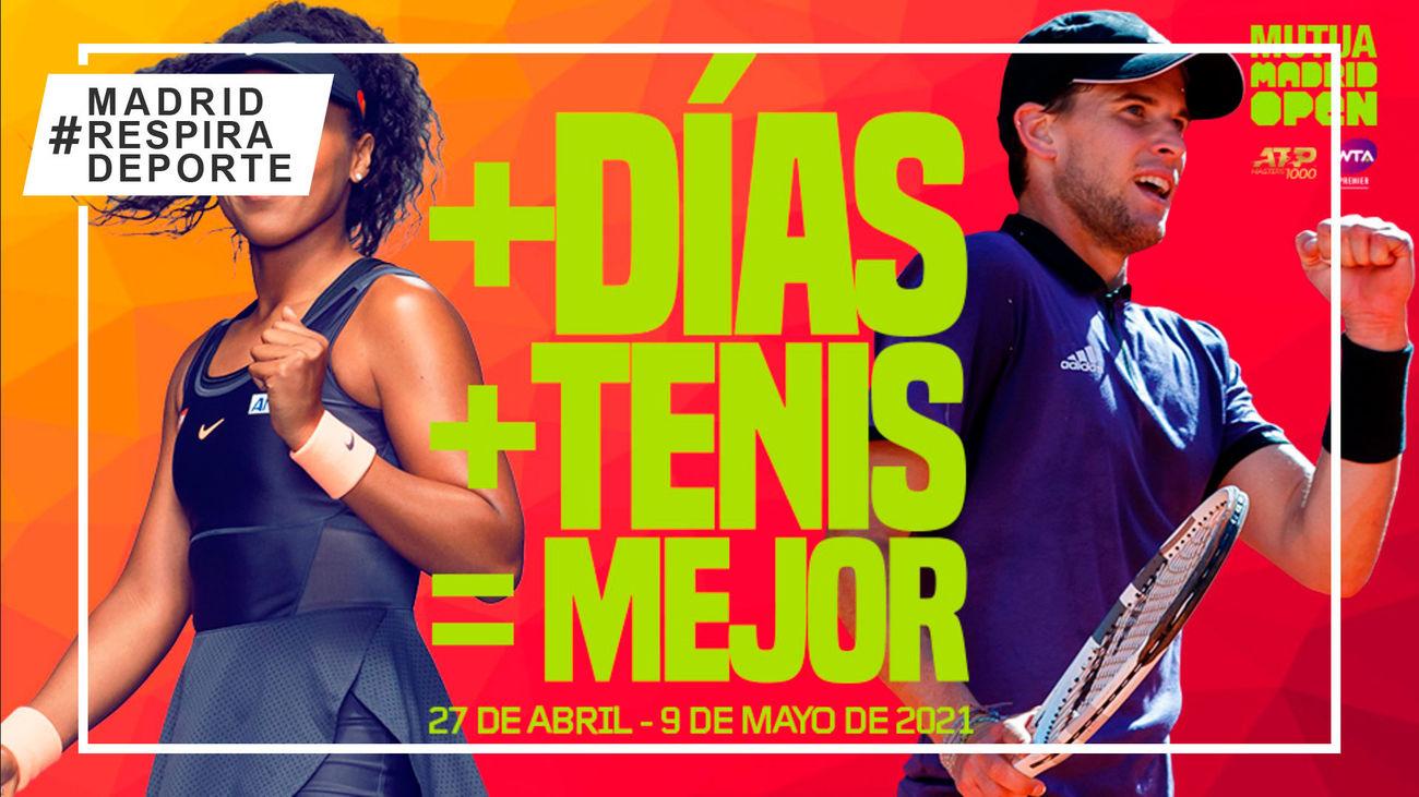 El Mutua Madrid Open crecerá en 2021 y será un torneo de dos semanas