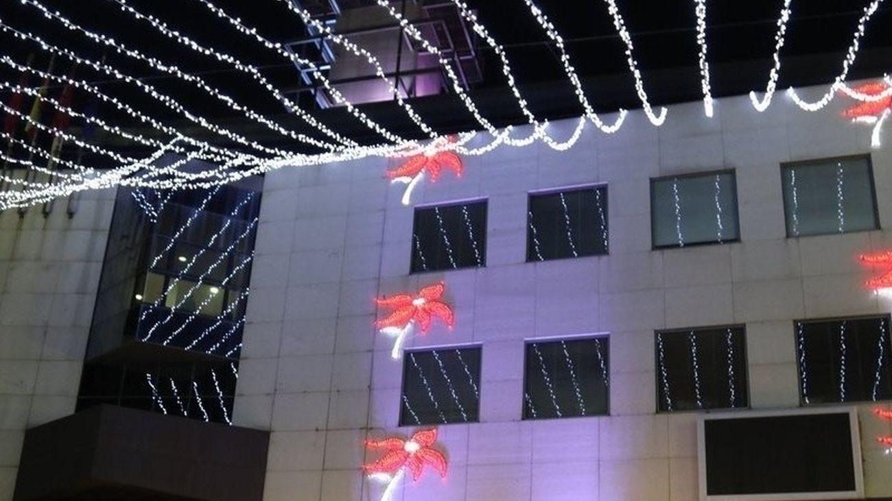 Luces de Navidad en la Plaza de la Constitución de Getafe