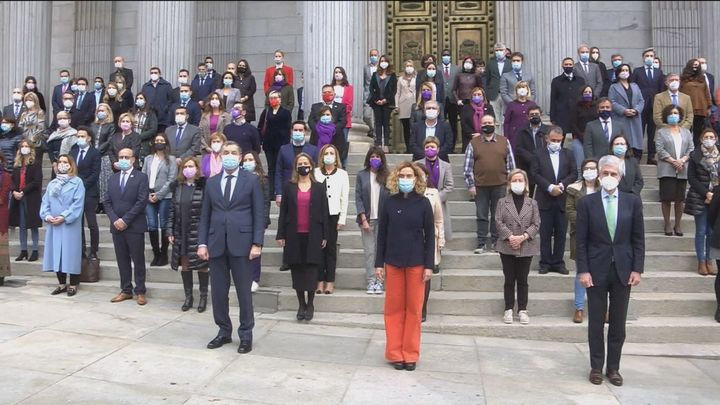 Minuto de silencio en el Congreso por las víctimas de violencia de género