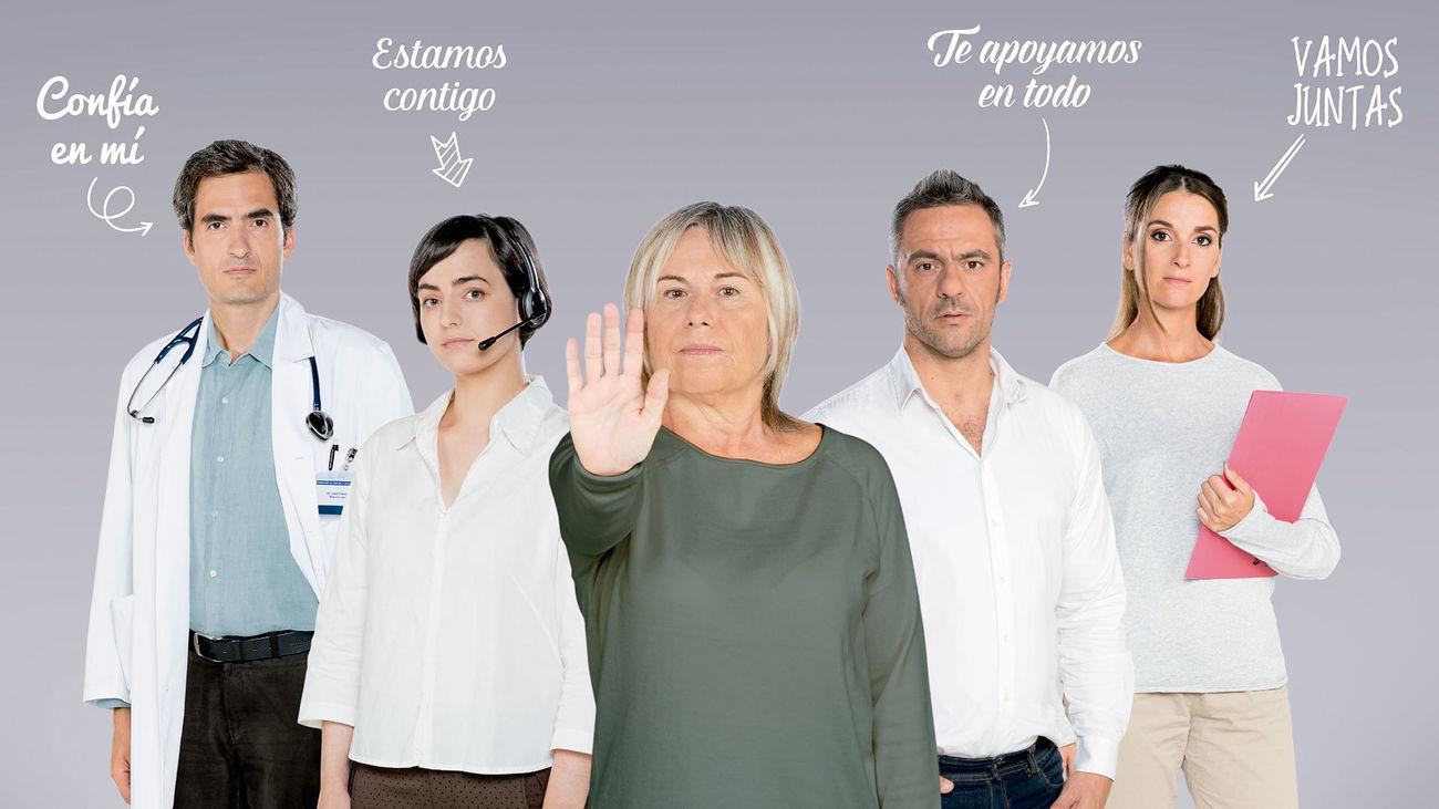 Imagen del cartel institucional contral la violencia de género, 'No estoy sola'