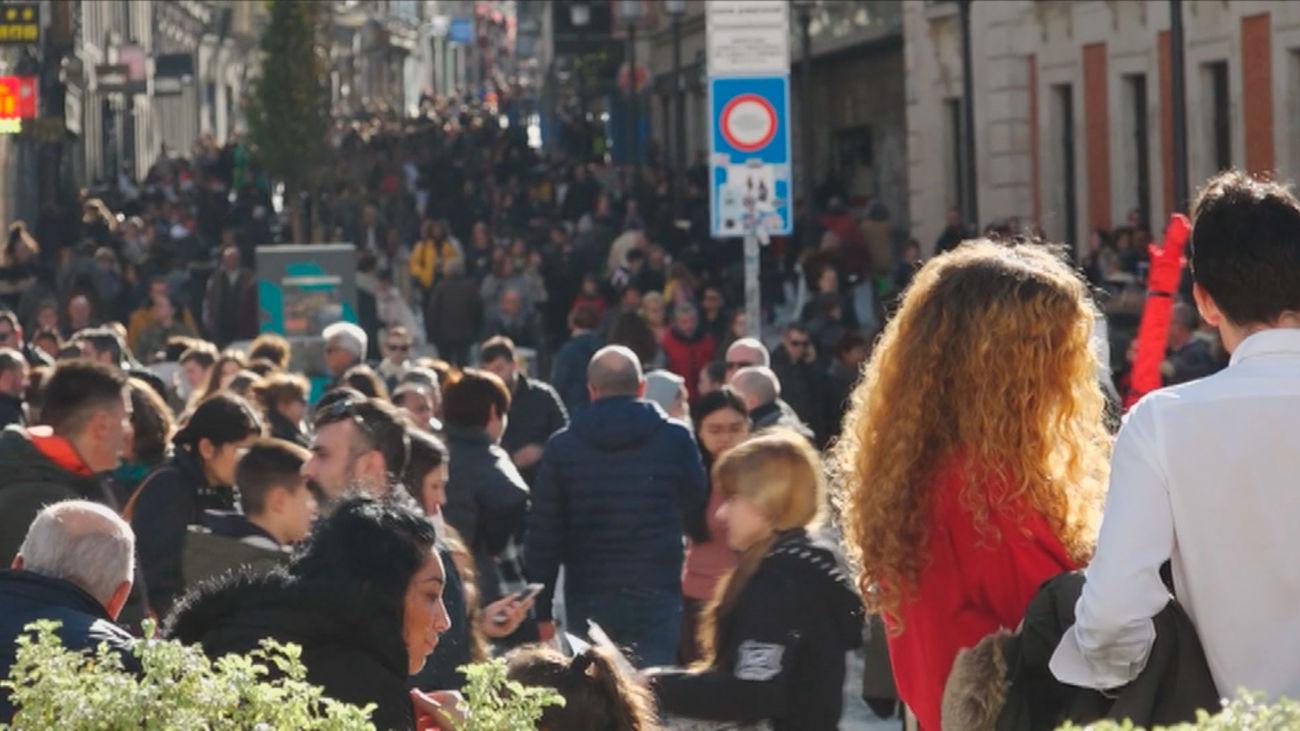 Aglomeraciones en el centro de Madrid por la Navidad