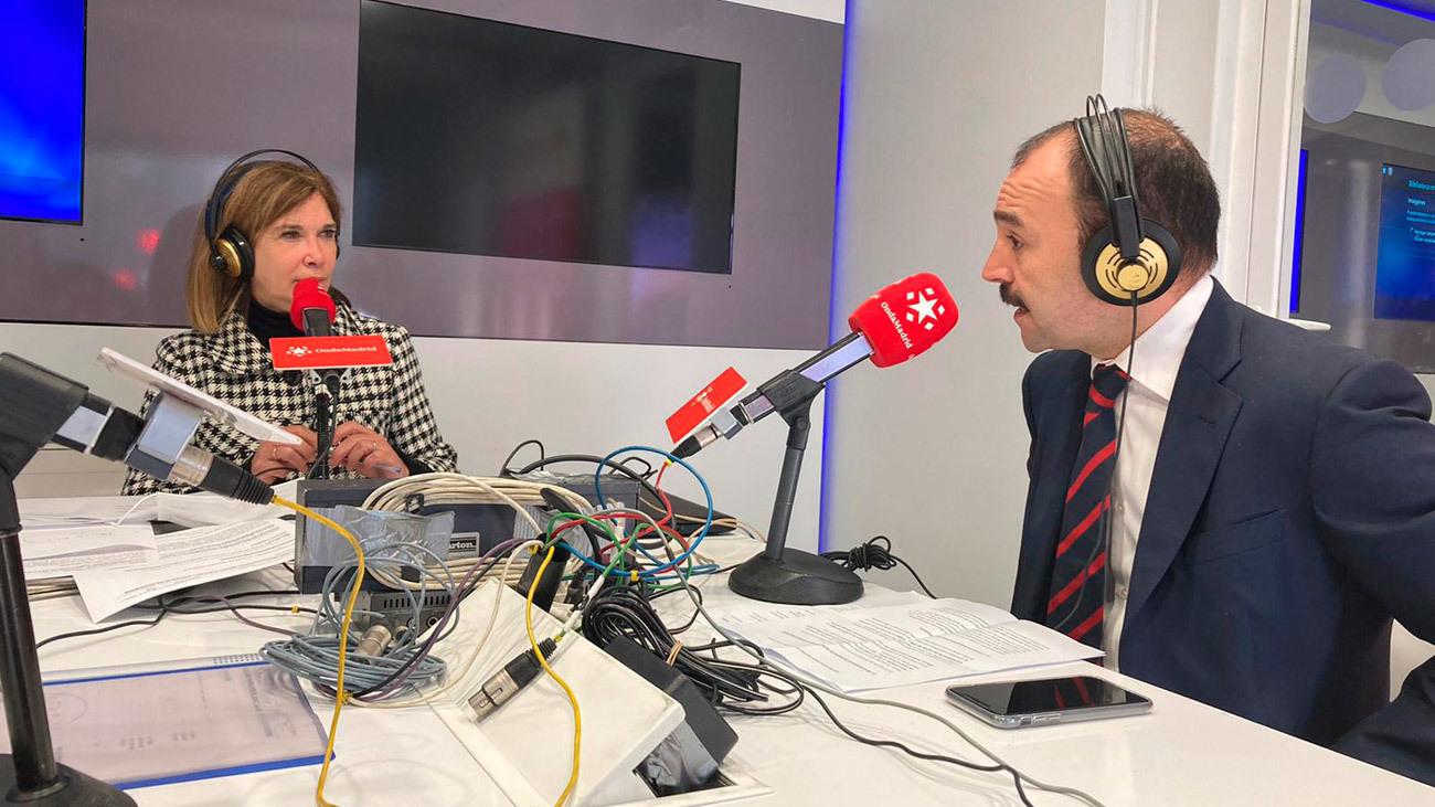 Ely del Valle entrevista en Onda Madrid al consejero de Economía Manuel Giménez Rasero