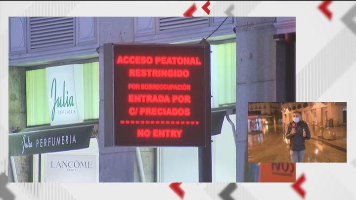 Niveles verde, amarillo, rojo y negro para evitar en Navidad aglomeraciones en el centro de Madrid