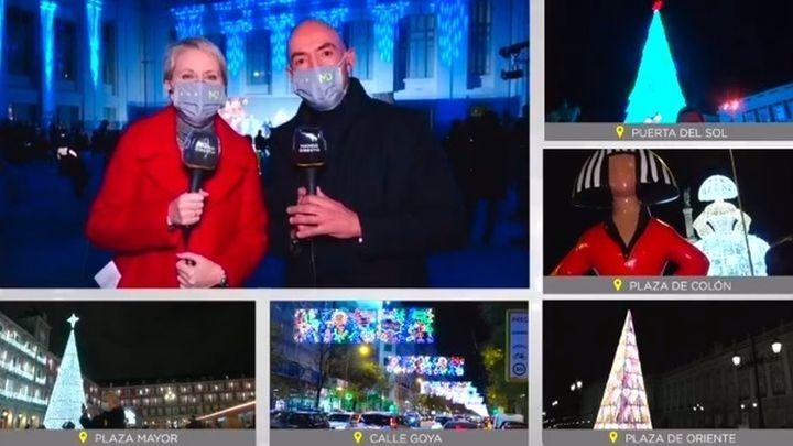 Así ha sido el encendido de las luces de Navidad en Madrid