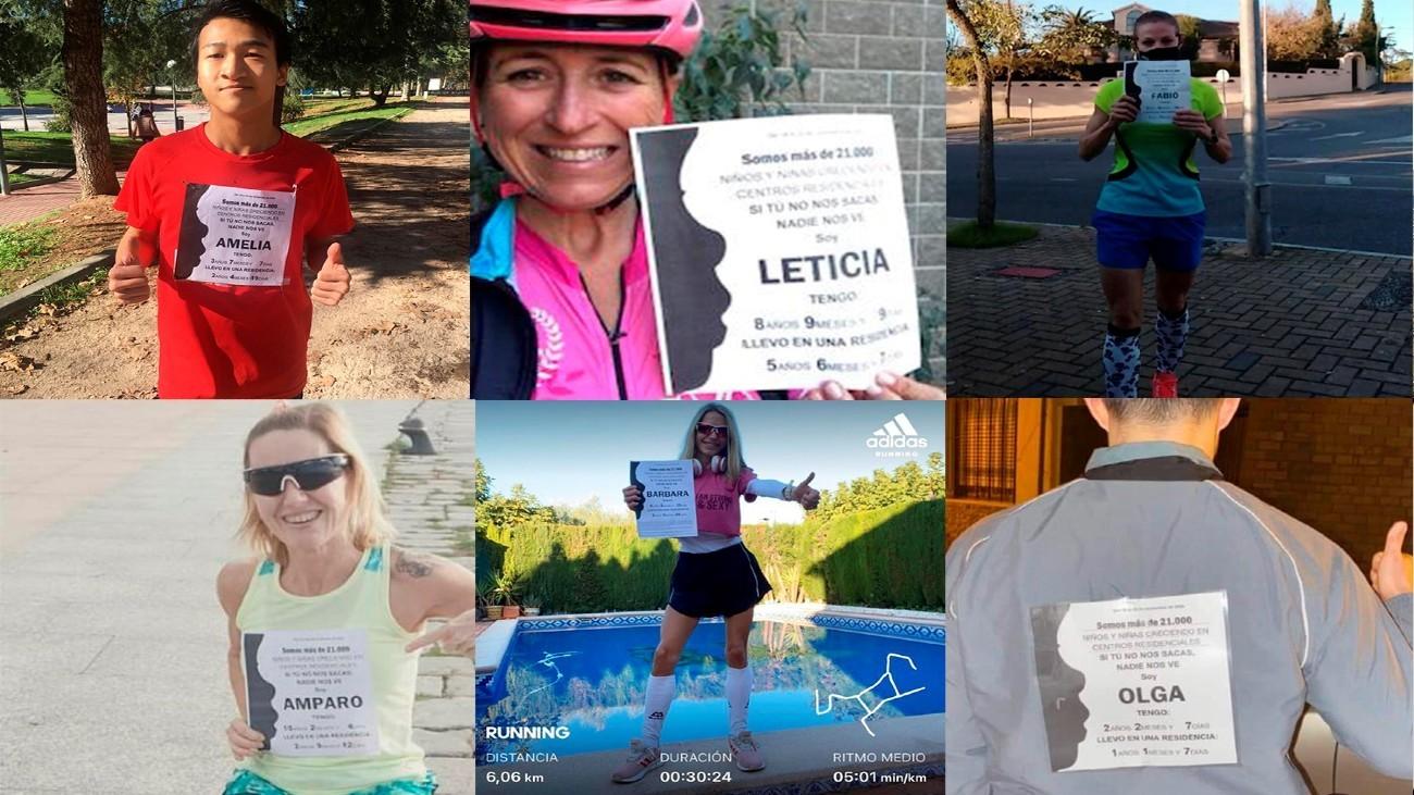 La carrera virtual 'Ni un niño sin familia' supera los 21.000 kilómetros
