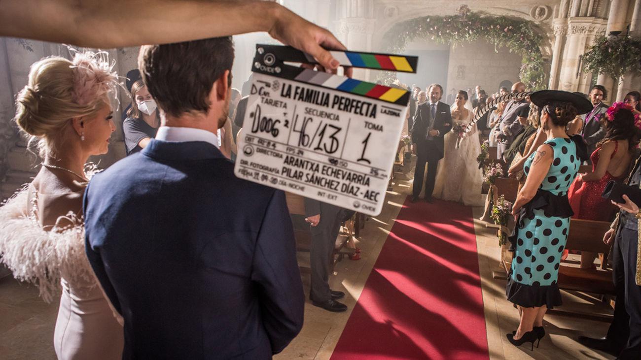 Rodaje del filme 'Familia perfecta', de Arantxa Etxebarría.