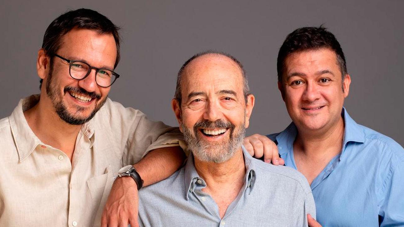 David Serrano, Miguel Rellán y Secun de la Rosa, director y actores de 'Los asquerosos'