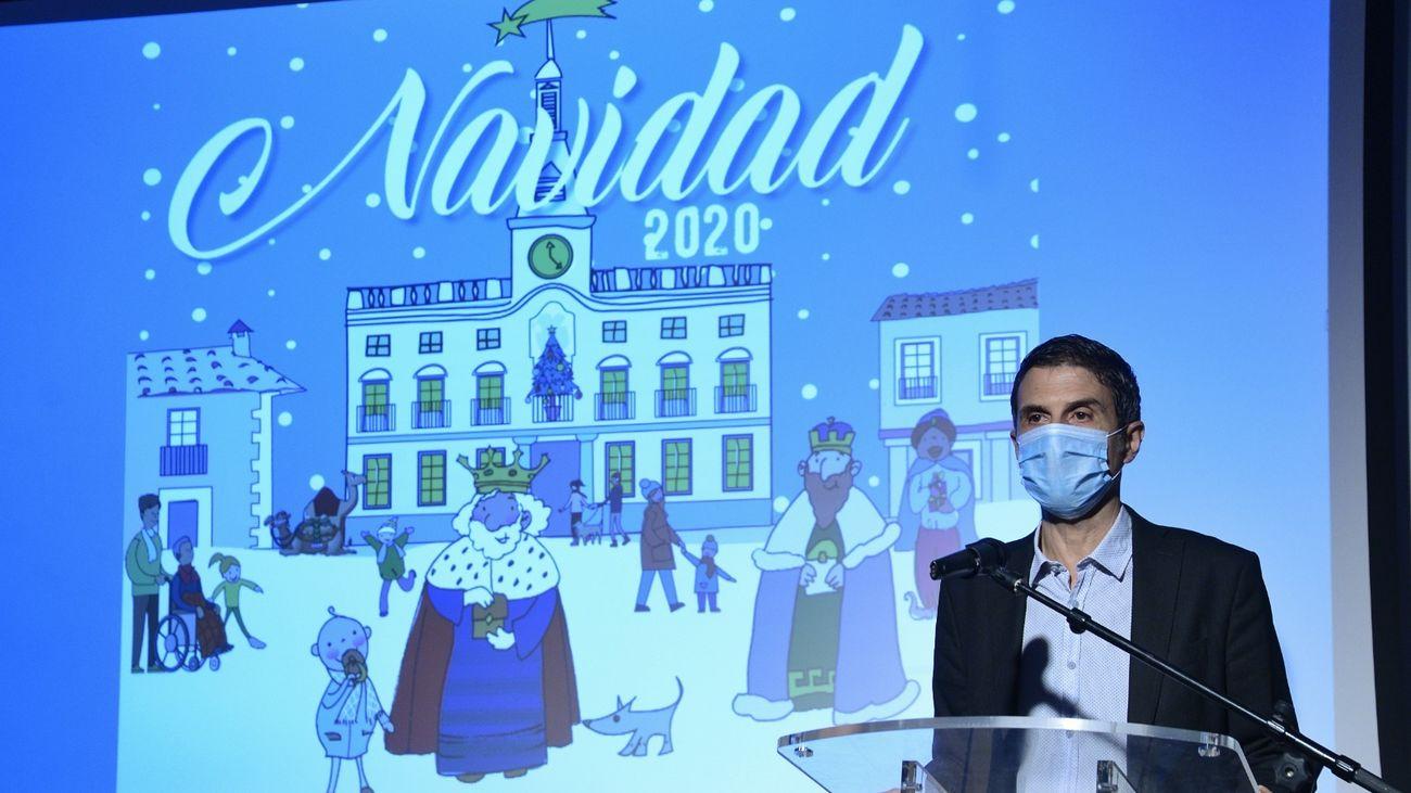 El alcalde de Alcalá, Javier Rodríguez Palacios en la presentación de la programación de Navidad