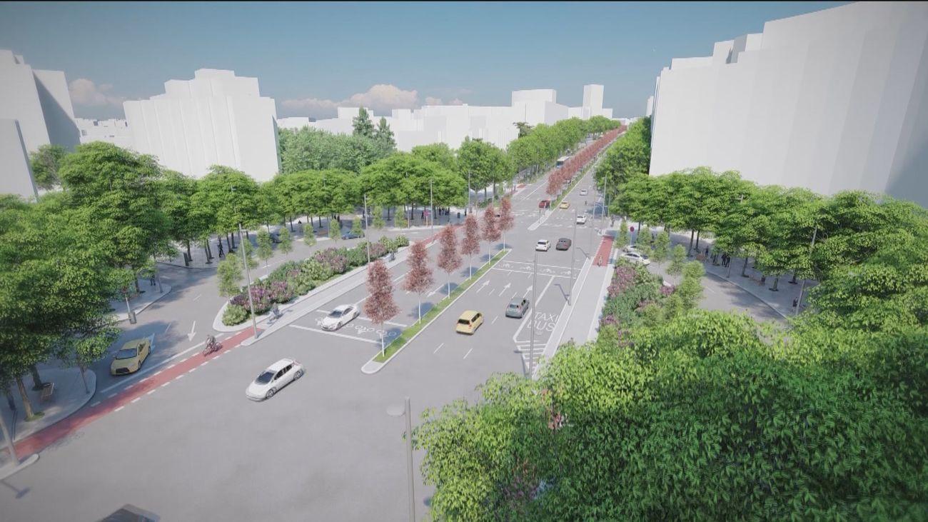 El eje de Joaquín Costa tendrá más espacios verdes y un museo al aire libre tras nueve meses de obras