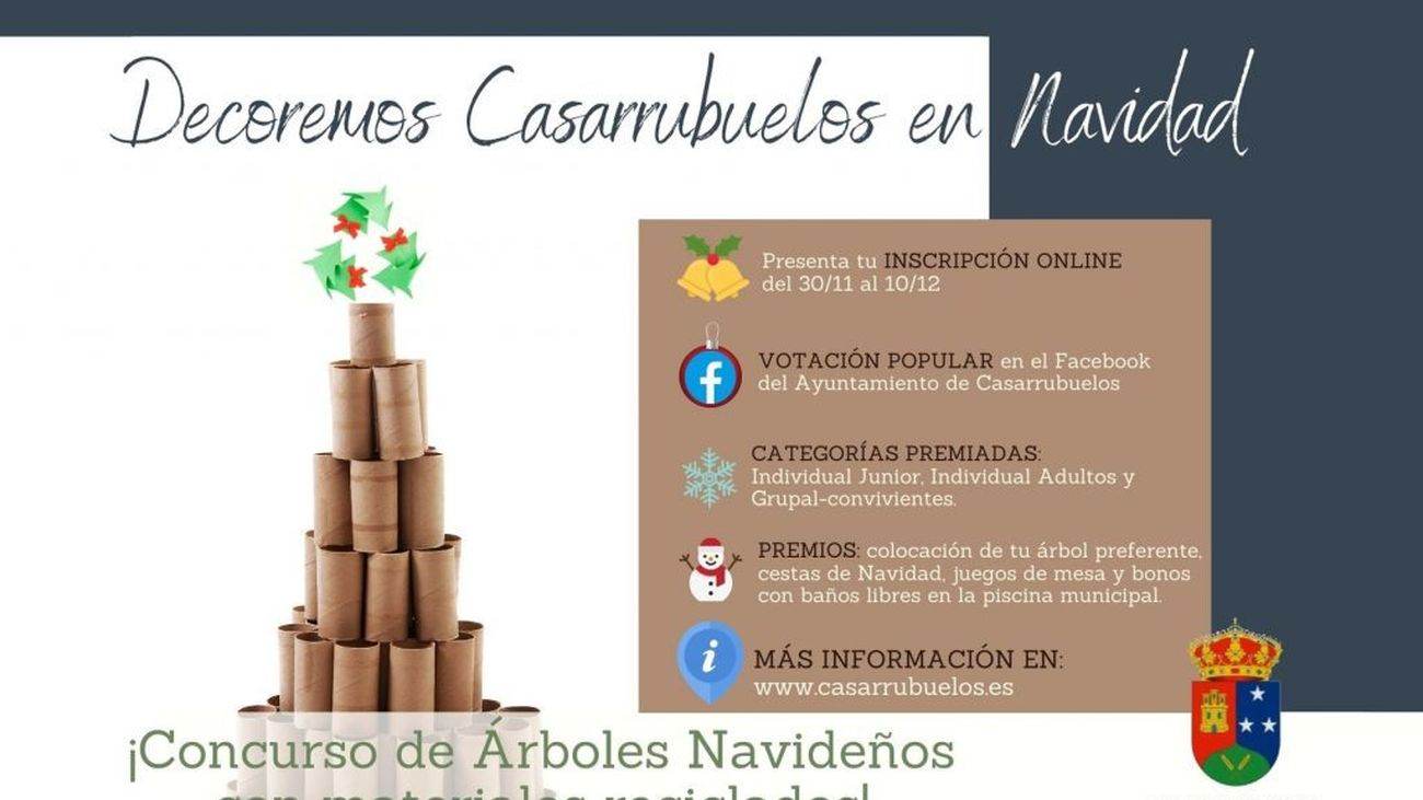 Cartel del concurso de árboles navideños de Casarrubuelos