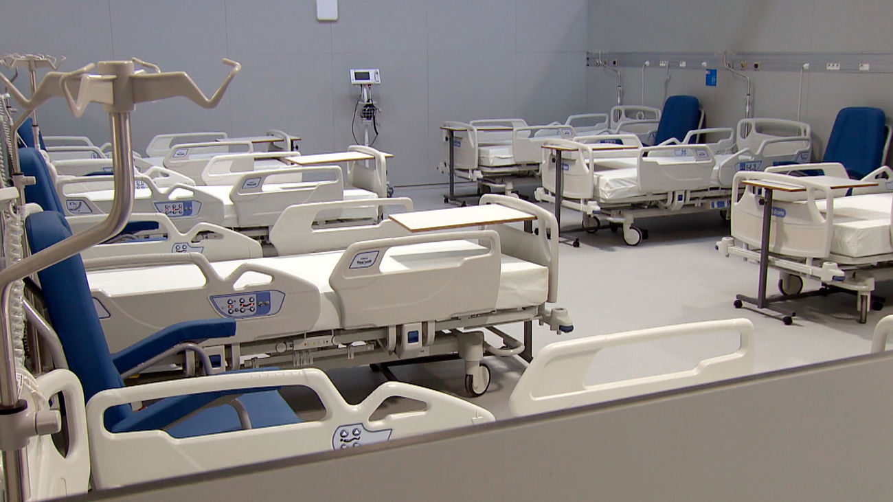 Interior del hospital Isabel Zendal