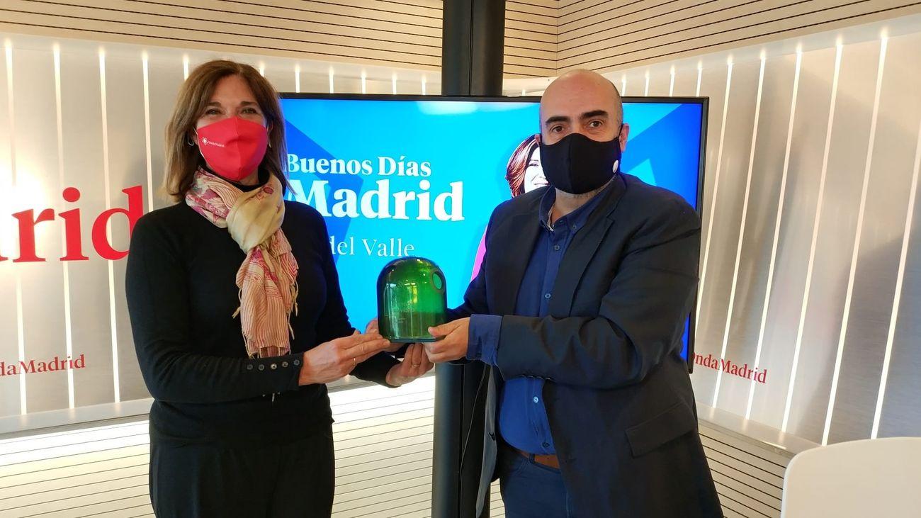 Ely del Valle y Miguel Aguado, de 'Buenos Días, Madrid' de Onda Madrid.