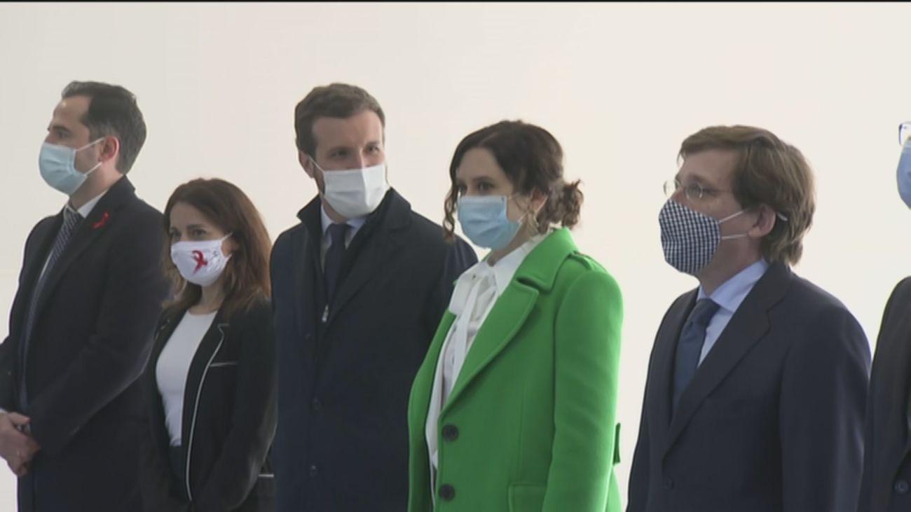 Isabel Díaz Ayuso en la inauguración del hospital Isabel Zendal