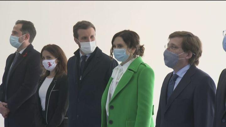 """Ayuso inaugura el hospital de emergencias Isabel Zendal: """"  Es el esfuerzo y la lucha de una región contra el virus"""""""