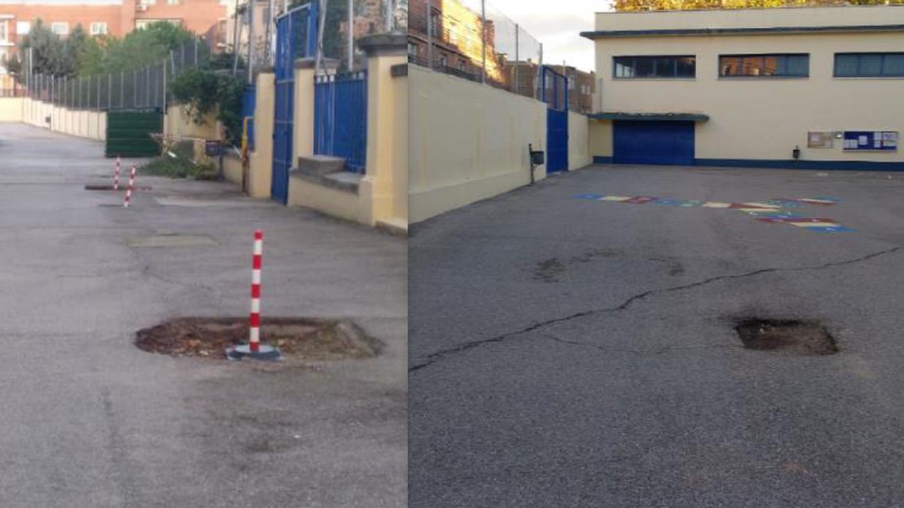 La renovación de los patios escolares de Ciudad Lineal tendrá que esperar un año más