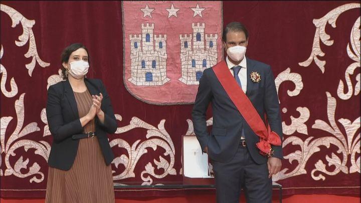 """Nadal,  premiado con la Gran Cruz de la Orden del 2 de Mayo: """"Me siento muy cercano a Madrid"""""""