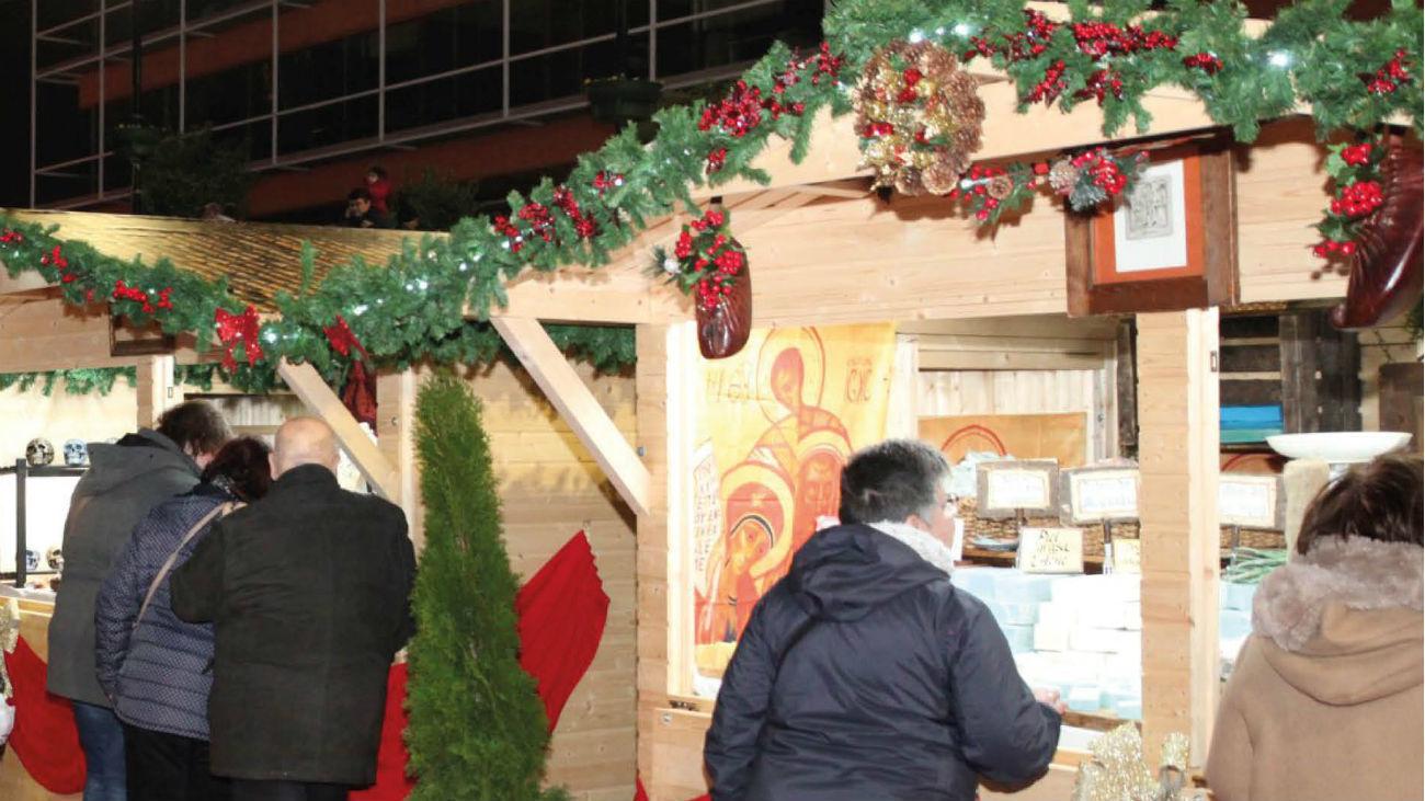 Caseta en uno de los mercados navideños de Fuenlabrada