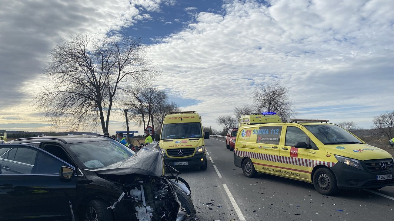 Accidente en San Martín de la Vega