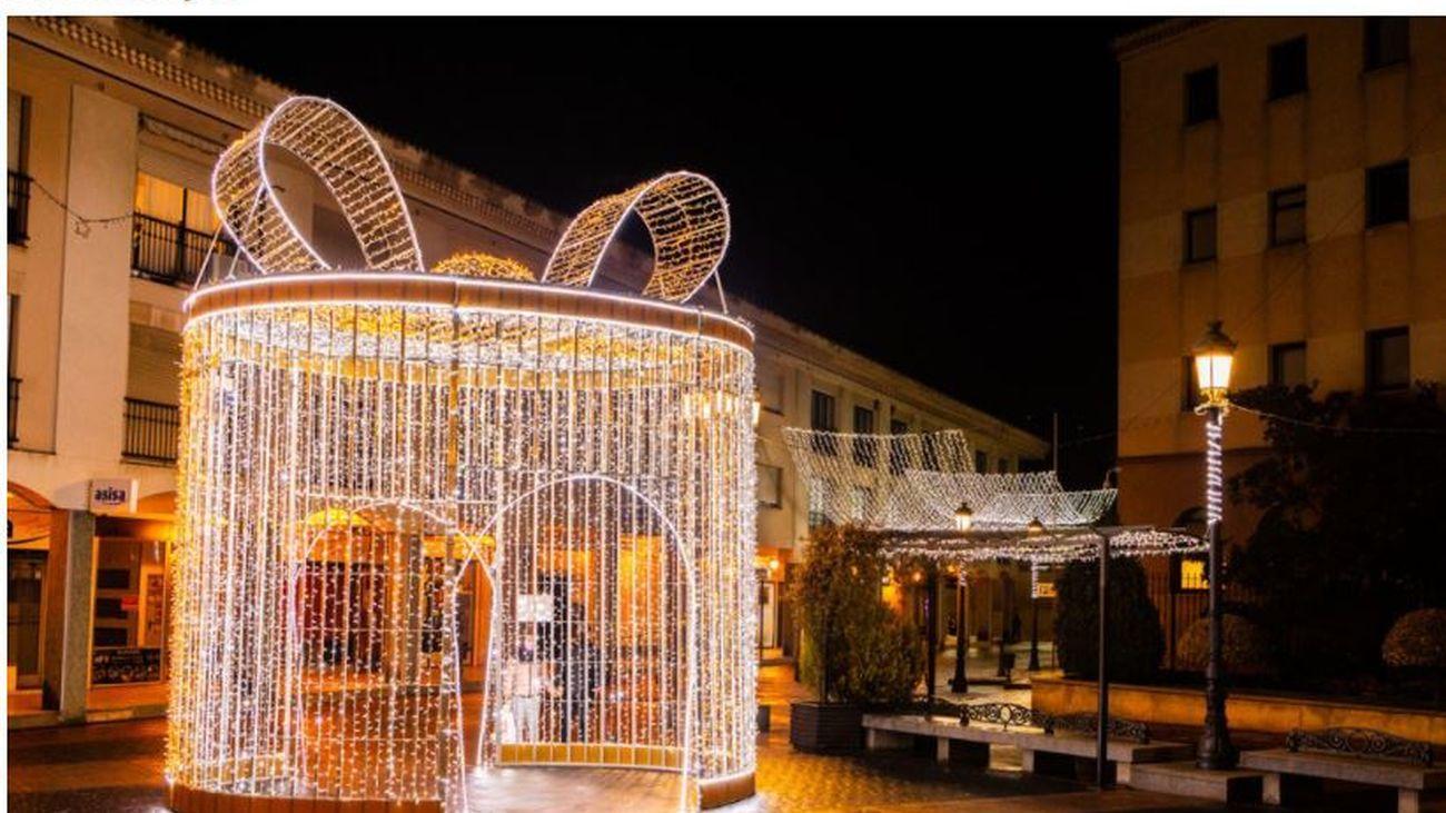 Una calle de Pozuelo en Navidad