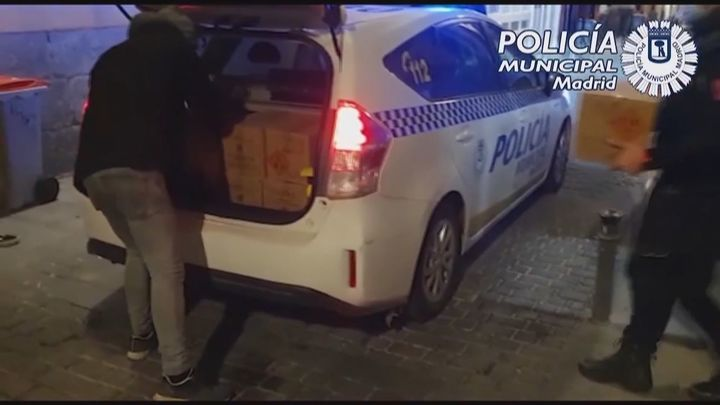 Incautados en el centro de Madrid 300.000 artículos pirotécnicos de vendedores ambulantes