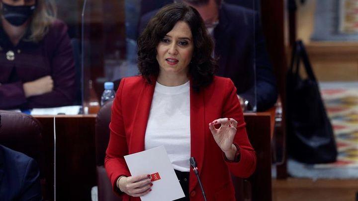 Ayuso reitera que no se plantea un adelanto electoral en la Comunidad de Madrid