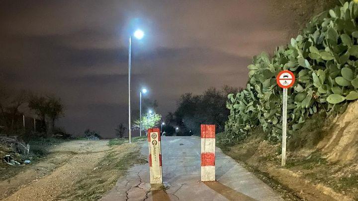 El acceso al helipuerto de Morata de Tajuña ya cuenta con la nueva iluminación
