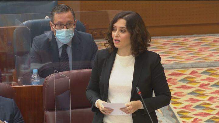 Ayuso pide a la Delegación del Gobierno que actúe en La Cañada y anuncia el realojo de 150 familias