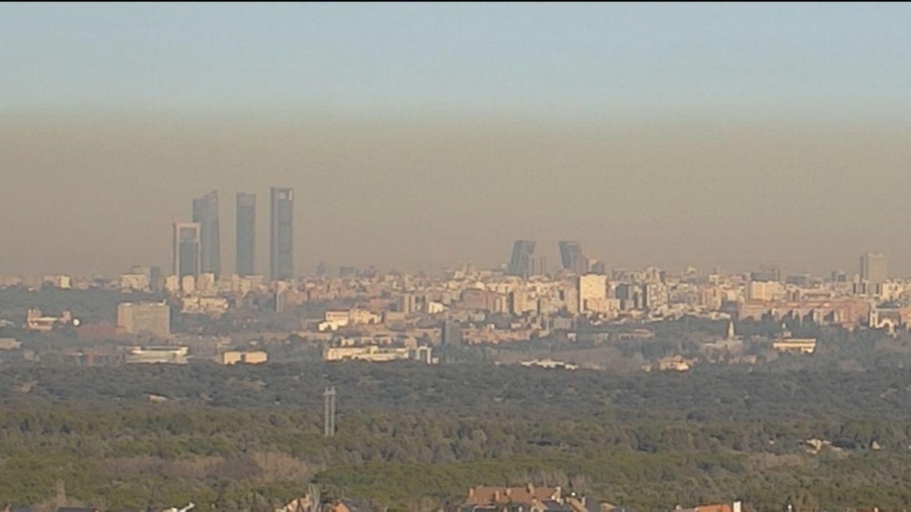 'Boina' de contaminación sobre el centro de Madrid