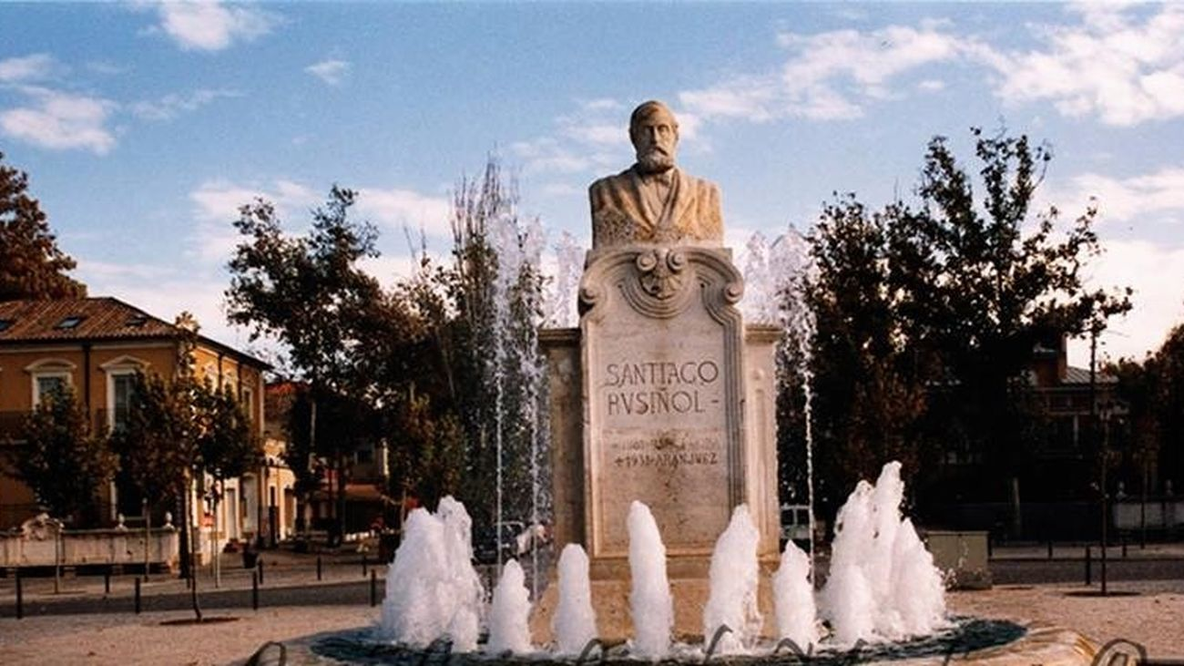 Estatua de Rusiñol en Aranjuez