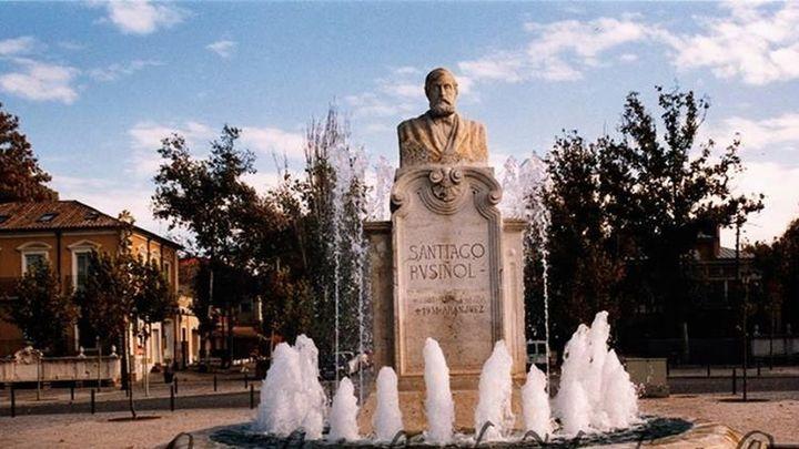 El busto restaurado del pintor Santiago Rusiñol volverá a su plaza