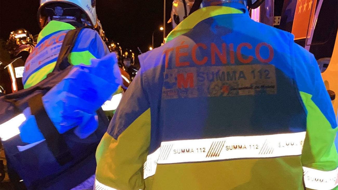 Imagen de los servicios de emergencia en el incendio decretado en Aranjuez