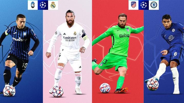 Atalanta-Real Madrid y Atlético-Chelsea, en los octavos de la Champions