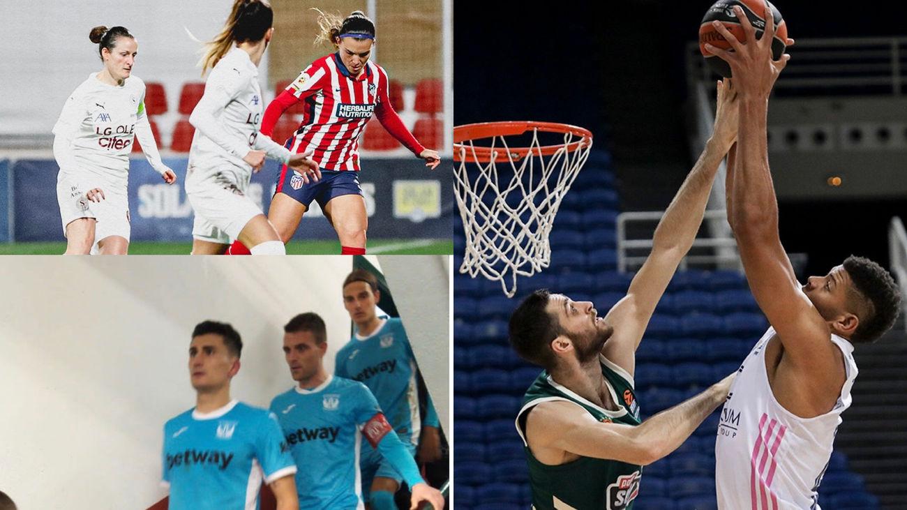 Atlético Madrid-Servette, Panathinaikos-Real Madrid y CD Leganés