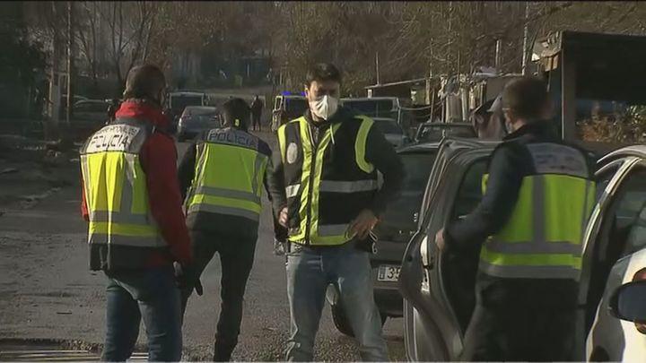Macrooperación policial contra la venta de cocaína y heroína en la Cañada Real