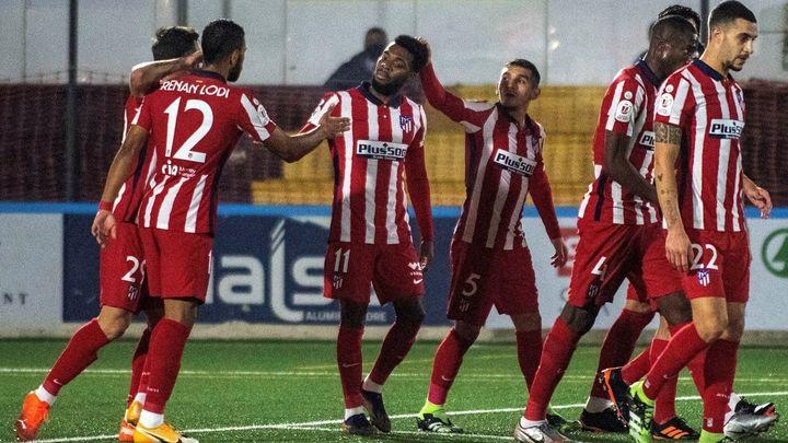 0-3. La pegada del Atlético acaba con el sueño copero del Cardassar