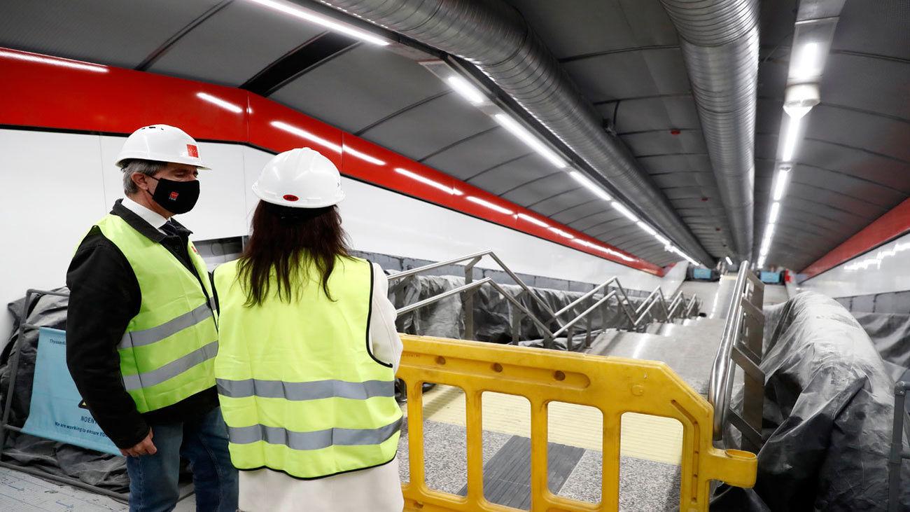 La estación de Metro de Gran Vía, que abrirá en verano, conectada ya con la de Renfe de Sol