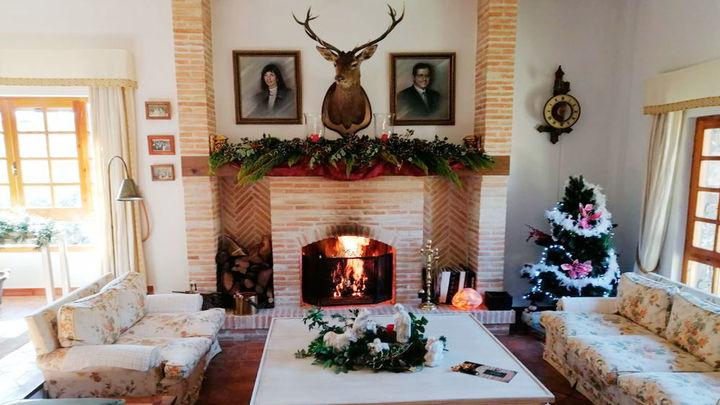 Cómo es pasar la Navidad en una casa rústica de Becerril de la Sierra