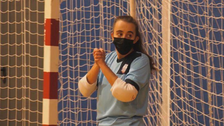 María Llavero, portera de la Selección española de fútbol sala para sordos