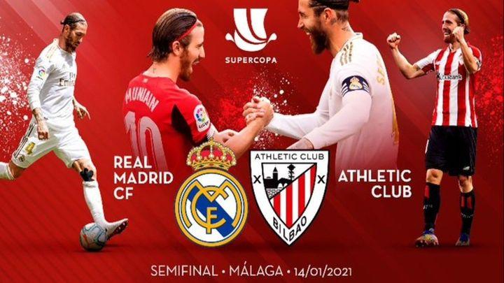 El Real Madrid se medirá al Athletic en la semifinal de la Supercopa