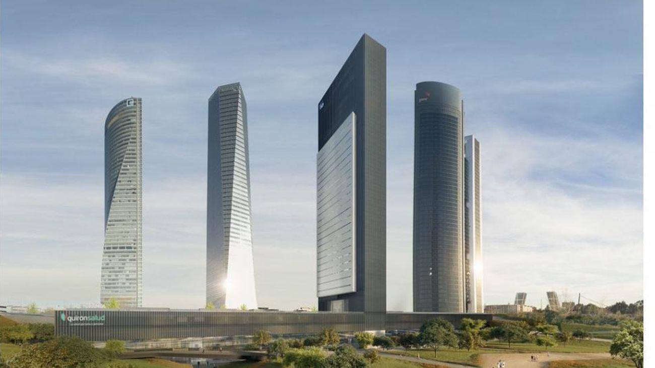 Recreación del aspecto final del complejo de las 'Cinco Torres'