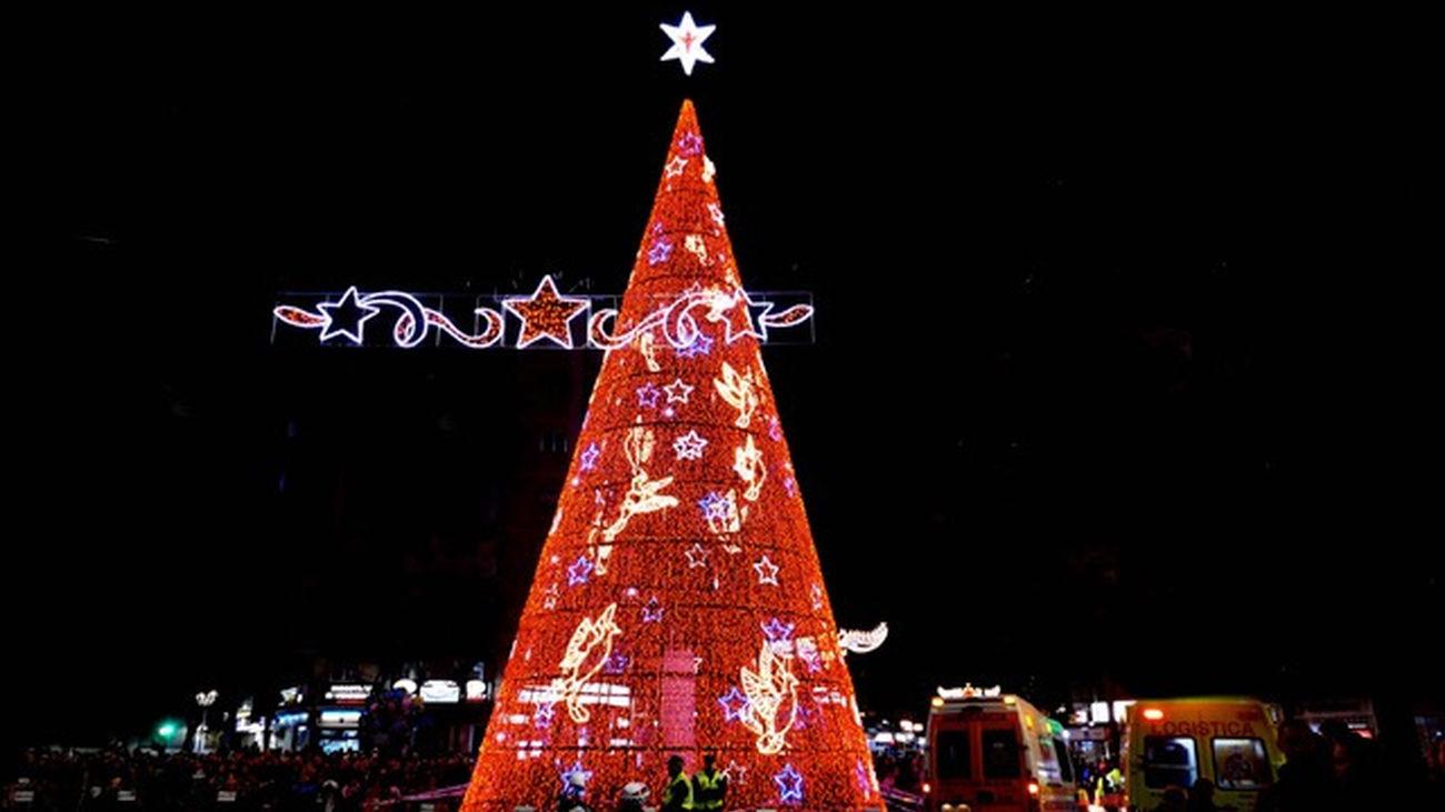El gran árbol de la Navidad de Móstoles