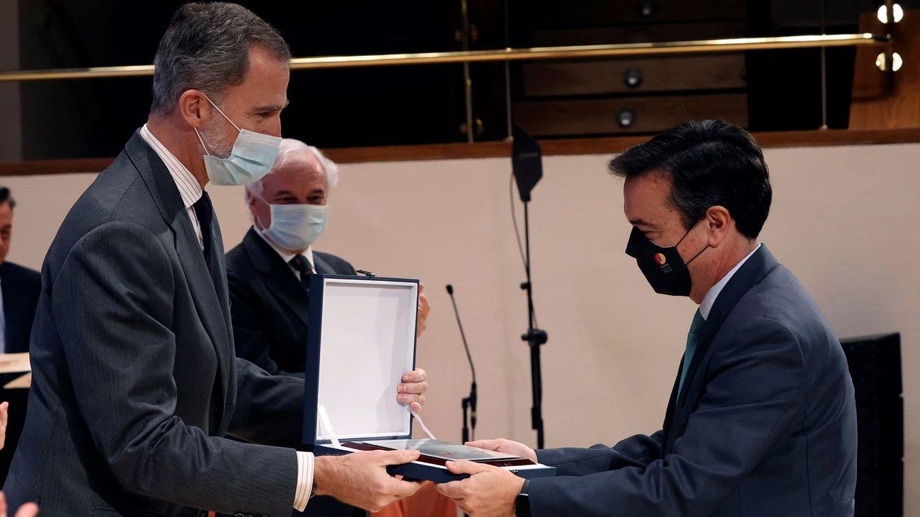 El rey Felipe pone en valor el papel ejemplar y solidario de las empresas españolas durante la pandemia