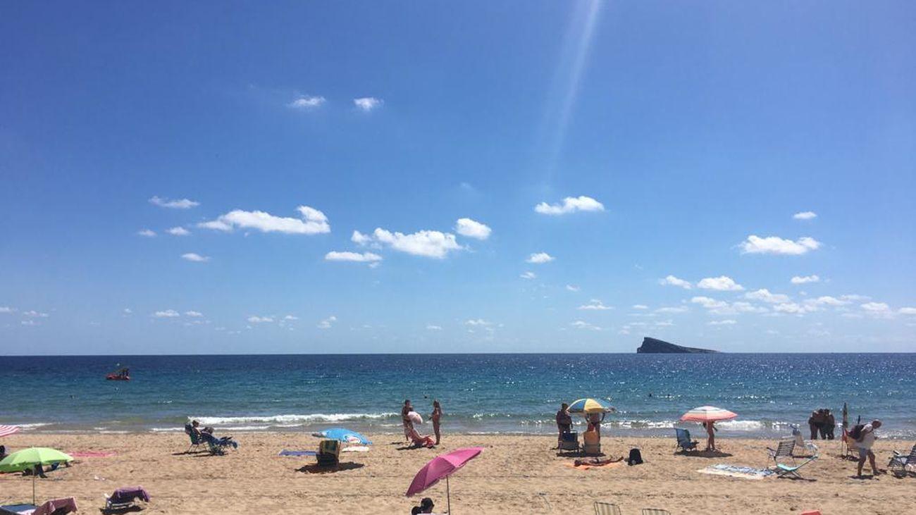 Playa de Levante de Benidorm este verano