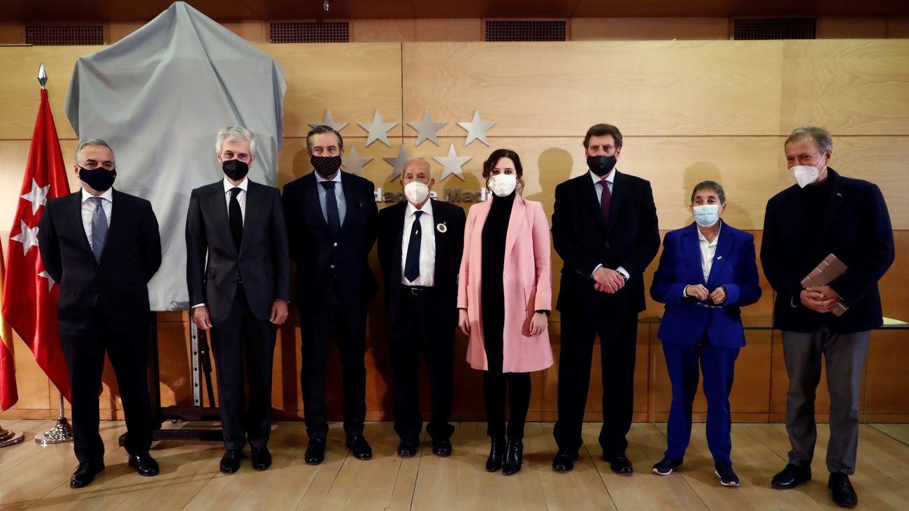Acto de homaneja en la Comunidad de Madrid a Diana Quer