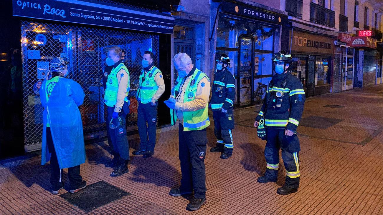 Servicios de emergencias, en el lugar del suceso