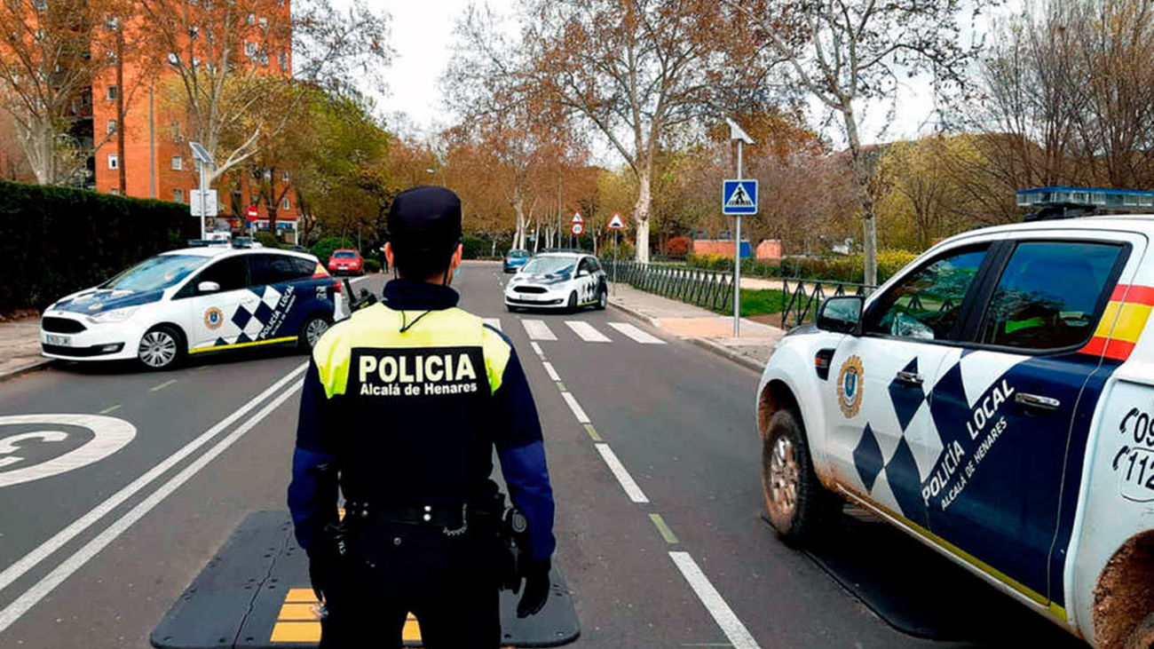 Operativo de la Policía Local de Alcalá de Henares