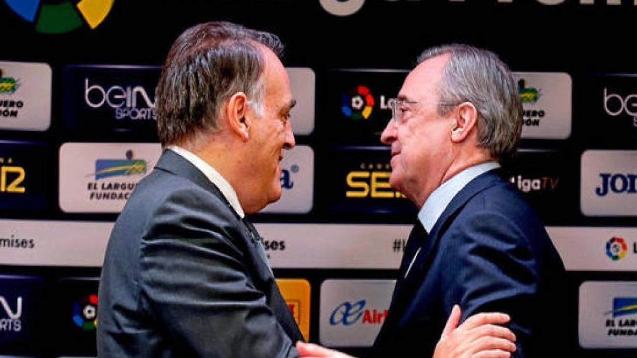 """Florentino apuesta por la Superliga y Tebas responde que """"es perfecta para arruinarse"""""""
