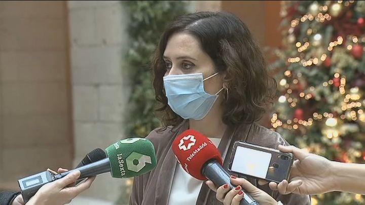 Ayuso pide a Sanidad más vacunas para Madrid en el menor tiempo posible